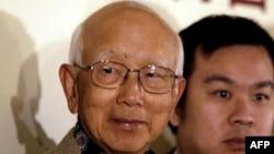 2005年2月17日鄒文懷在香港版權法新聞發布會上