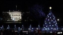 ԱՄՆ-ի նախագահը վառել է ազգային նոր տոնածառի լույսերը