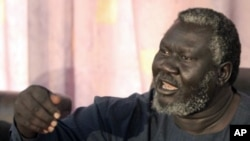 Sudan People's Liberation Movement (SPLM) governor of Blue Nile state Malik Aggar speaks during joint news conference in Khartoum (File Photo).