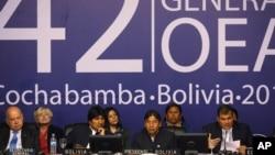 La asamblea de la OEA en Cochabamba se caracterizó por discrepancias frontales de los países del ALBA con EE.UU.