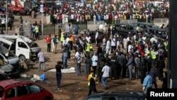 Bom mengguncang stasiun bis yang ramai di ibukota Abuja, menewaskan sekurangnya 75 orang (14/4).