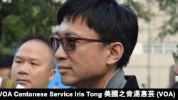 獨立的新界東立法會補選候選人梁思豪 (攝影: 美國之音湯惠芸)