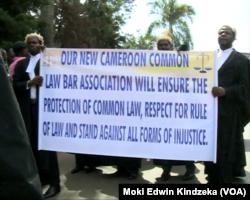 Les avocats font grève au Cameroun, le 13 novembre 2016. (Moki Edwin Kindzeka/VOA)