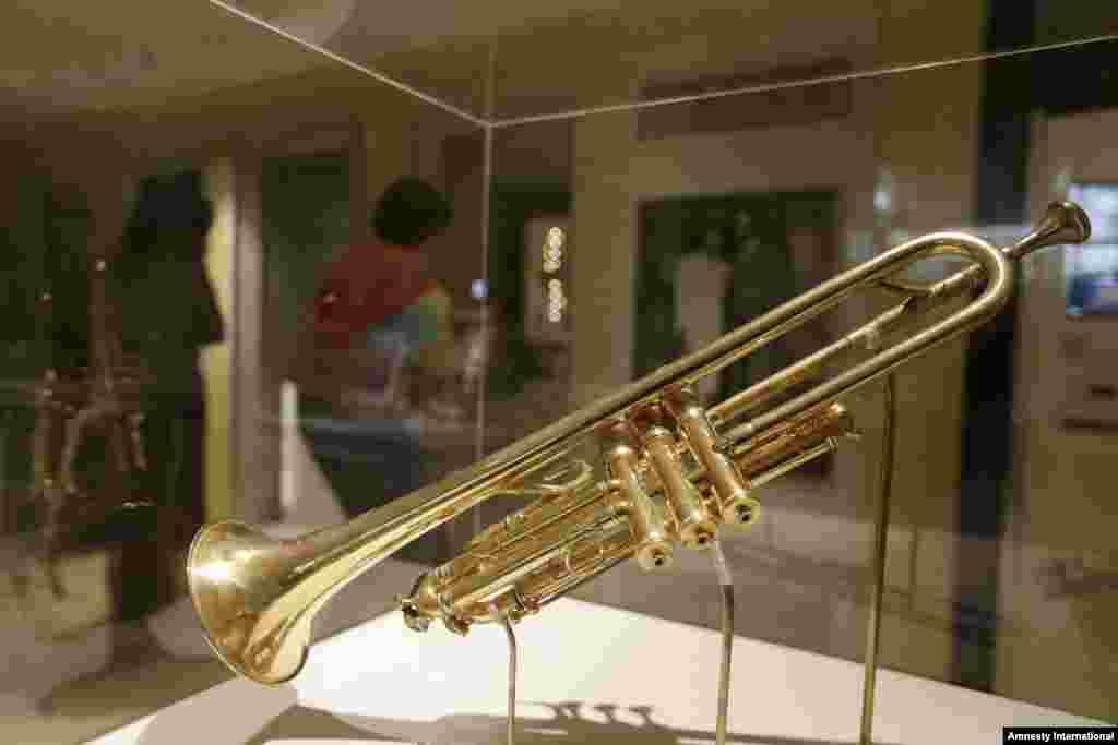 Una de las piezas del museo es la trompeta de Armstrong que le fue regalada por el rey Jorge V en 1933.