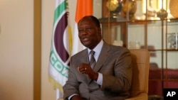 Alassane Ouattara, le président sortant réélu de la Côte d'Ivoire