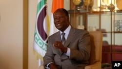Le président de la Côte d'Ivoire, Alassane Ouattara