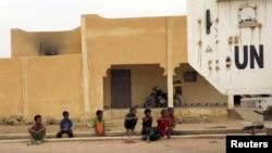 Véhicule blindé de la Minusma à Kidal, au Mali, le 23 juillet 2015.