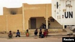 Véhicule de la Minusma à Kidal le 23 juillet 2015.