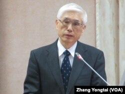 台湾卫生福利部副部长林奏延 (美国之音张永泰拍摄)