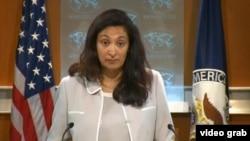 美国务院负责民主人权和劳动事务的代理助卿泽雅(国务院视频截图)