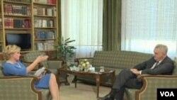 Predsjednik Republike Srbije Tomislav Nikolić u razgovoru sa novinarkom Sanelom Prašović-Gadžo