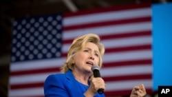 Hillary Clinton, Charlotte, Caroline du Nord, le 8 septembre 2016.