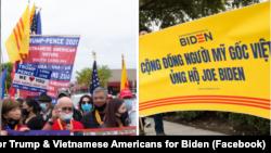 Người Mỹ gốc Việt trong các cuộc diễu hành ủng hộ hai ứng cử viên tranh cử tổng thống Mỹ Donald Trump và Joe Biden. Những quan điểm khác nhau đã làm cho cộng đồng Việt xung đột và chia rẽ.