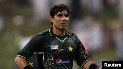 پاکستان کرکٹ ٹیم کے کپتان مصباح الحق ( فائل فوٹو )