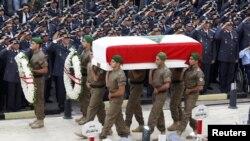 Похороны генерала Виссама аль-Хассана. Бейрут, Ливан. 21 октября 2012 года