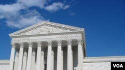 The US Supreme Court, Washington DC. (VOA)