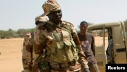 Des soldats nigériens lors de l'exercice militaire Flintlock en 2014 dans Diffa.