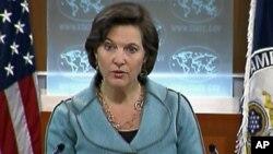 Jurubicara Deplu Amerika, Victoria Nuland mengatakan AS memuji keputusan OKI untuk menskors keanggotaan Suriah (foto: dok).