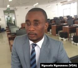 Ibam Ngambili, président du Conseil National de la Jeunesse du Congo, à Brazzaville, au Congo, le 24 mai 2017. (VOA/Ngouela Ngoussou)