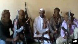 據稱是博科聖地組織公佈的一段視頻的一個鏡頭