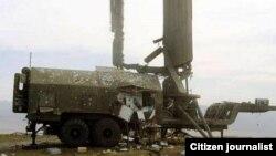 სოფელ შავშებში განადგურებული, რადიოლოკაციური სადგური 36Д6-М, 2008 წლის აგვისტო