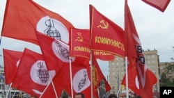 莫斯科支持哈薩克斯坦石油工人集會