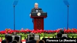 Çin'in başkenti Pekin'de düzenlenen uluslararası Kuşak ve Yol Forumu'nda konuşan BM Genel Sekreteri Antonio Guterres