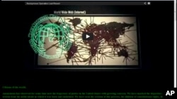 Trang web của Ủy ban Kết án Hoa Kỳ bị nhóm tin tặc Anonymous chiếm.