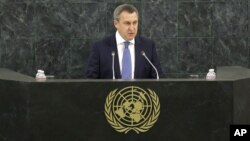 Menlu Ukraina Andriy Deshchytsia, mengatakan Rusia telah menginjak-injak integritas wilayah negaranya, saat bicara di markas PBB, New York Kamis (27/3).