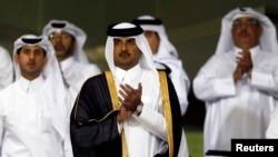 عکس آرشیوی از شیخ تمیم بن احمد آل ثانی امیر قطر