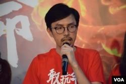 社民連主席吳文遠。(美國之音湯惠芸攝)