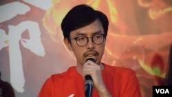 社民連主席吳文遠 (資料圖片﹐美國之音湯惠芸攝)