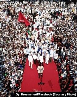 Kampanye Akbar Prabowo-Sandi di Gelora Bung Karno di Jakarta pada 7 April 2019. (Foto: Oyi Kresnamurti/Facebook)