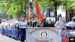 Ежегодный парад в День Вооруженных сил. Чаттануга, Теннесси, США.