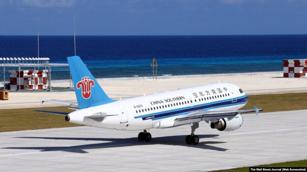 Đá Chữ Thập do Trung Quốc bồi đắp có đủ khả năng cho máy bay khá lớn hoạt động.