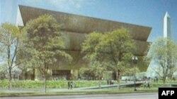 Lembaga Smithsonian di Washington, DC membangun museum sejarah dan budaya pertama tentang kelompok warga kulit hitam AS (foto ilutrasi rancangan museum yang sedang dibangun).