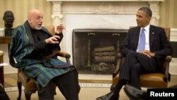 صدر براک اوباما او صدر حامد کرزۍ