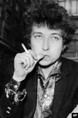 FILE--Singer Bob Dylan is seen in this April 27, 1965 file picture in London.