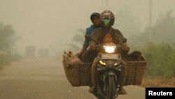 Haze Covers Indonesia and Singapore