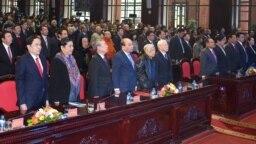 Các đại biểu tham dự lễ kỉ niệm 40 năm ngày chiến thắng thắng chế độ diệt chủng Pol Pot tại Hà Nội, ngày 4 tháng 1, 2018.