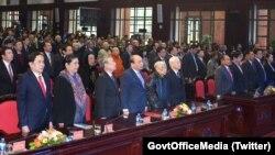 Các đại biểu tham dự Lễ Kỷ niệm 40 năm Ngày chiến thắng chiến tranh bảo vệ biên giới Tây Nam Việt Nam và cùng quân dân Campuchia chiến thắng chế độ diệt chủng Pol Pot (7/1/1979-7/1/2019), ngày 4 tháng 1, 2018, Hà Nội
