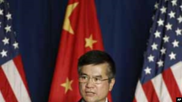 U.S. Ambassador to China Gary Locke delivers a speech to the American Chamber of Commerce in the People's Republic of China and members of United States-China Business Council, in Beijing, September 20, 2011.