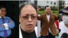 Cuatro de los candidatos presidenciales de partidos políticos en Nicaragua señalados de ser afines al presidente Daniel Ortega para legitimar el proceso electoral de noviembre de 2021. Fotos Houston Castillo, VOA.