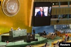 صدر ٹرمپ نے اقوام متحدہ کی جنرل اسمبلی سے خطاب میں اپنی انتظامیہ کی کامیابیوں کا ذکر کیا۔