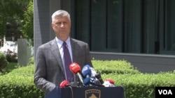 Predsednik Kosova Hašim Tači (Foto: VOA)