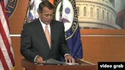 Le président de la Chambre, John Boehner
