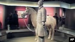 中国兵马俑展览在华盛顿揭幕