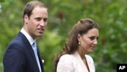 Британский принц Уильям и его жена Кэтрин