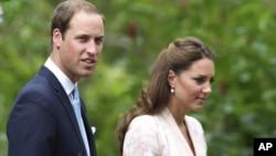 威廉王子和凱特王妃9月11日訪新加坡時拍於植物公園