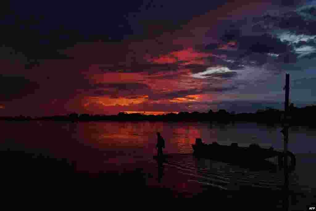 تصویری از غروب آفتاب در برزیل